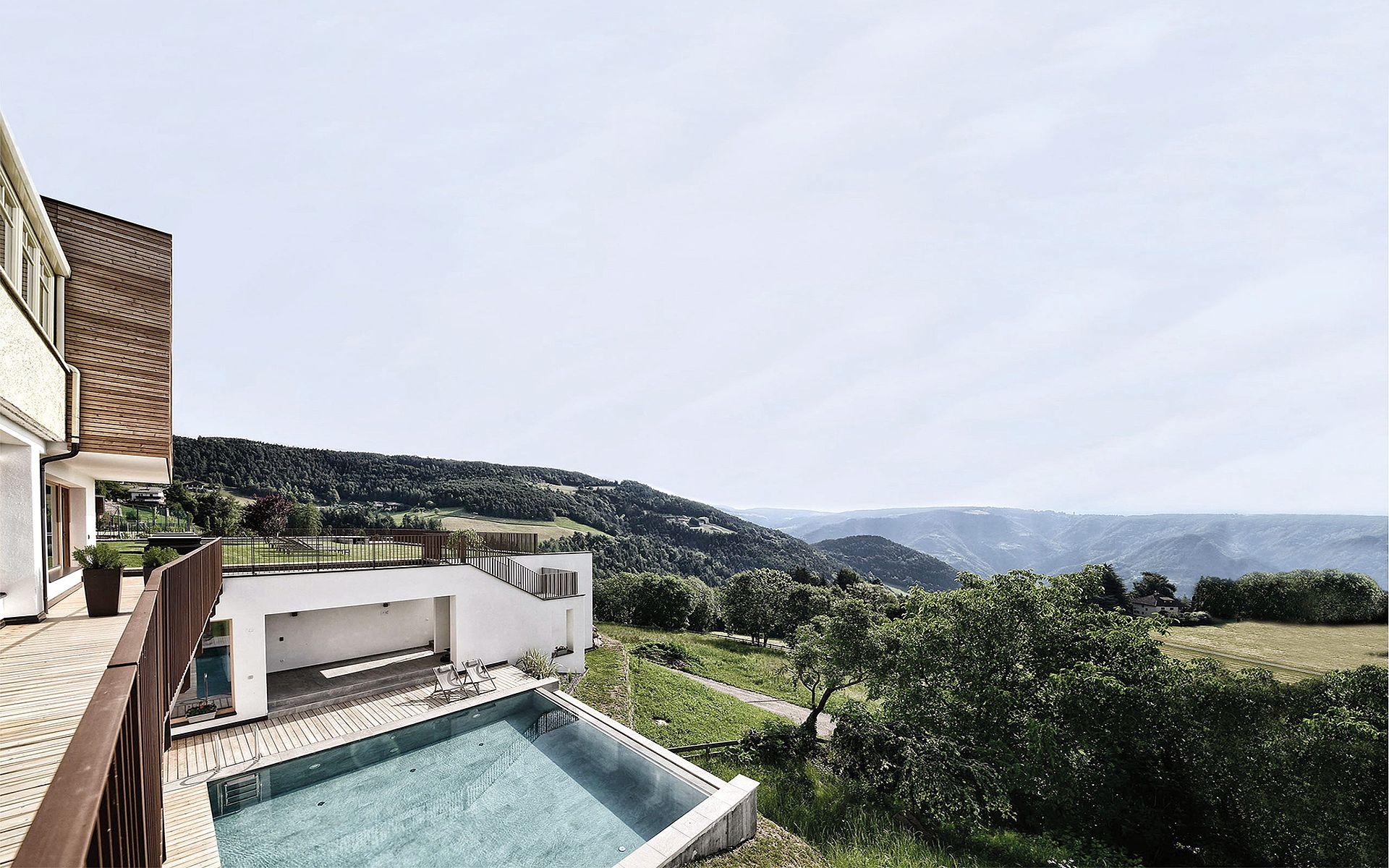 Hotel Gasthof zum Hirschen, Spa mit Dolomitenblick
